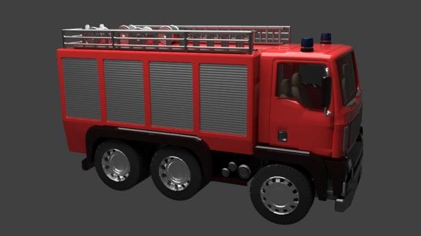 3d firetruck truck model