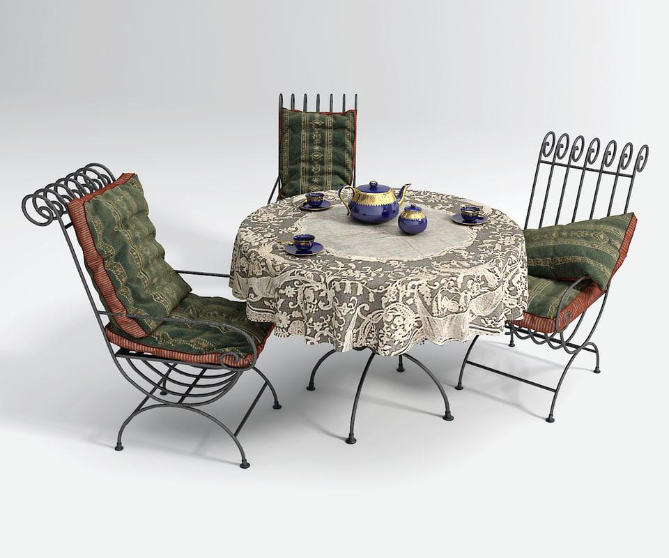 3d model garden set