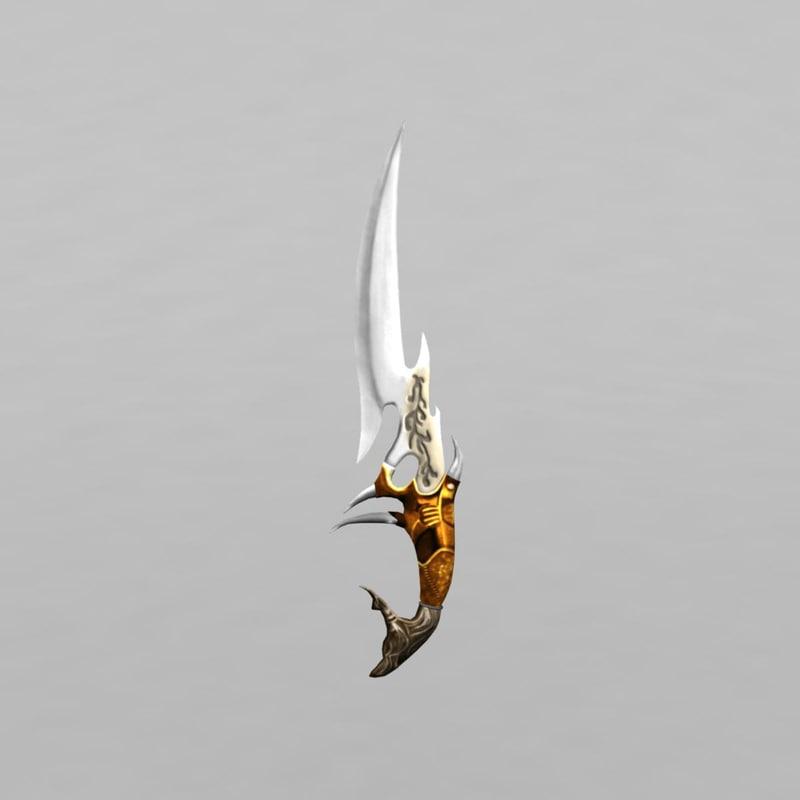 3d antique knife model