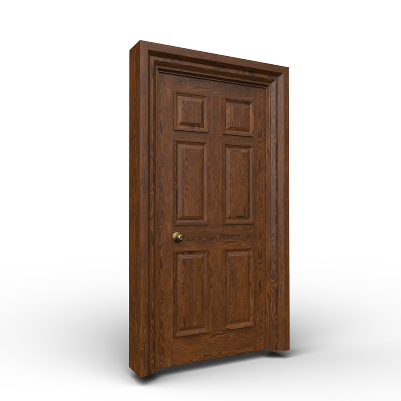 interior door 3d obj