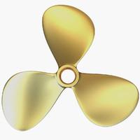 propeller 3 blades 3d model