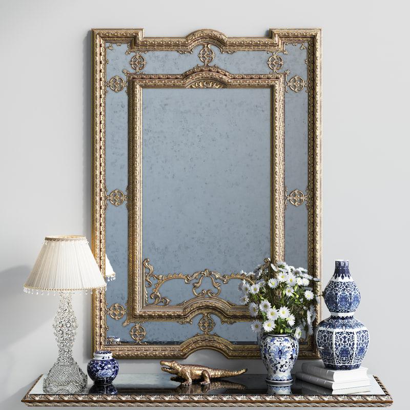 classic mirror provasi 1107 3d model