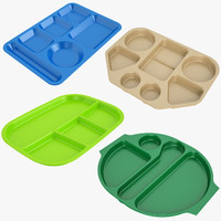 lunch food tray 01 3d model