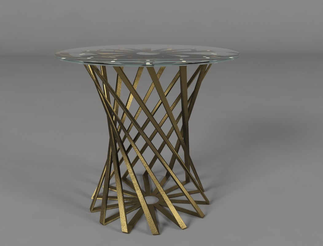 wrought iron coffee table 3d model