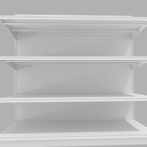 grocery store shelving 3d 3ds