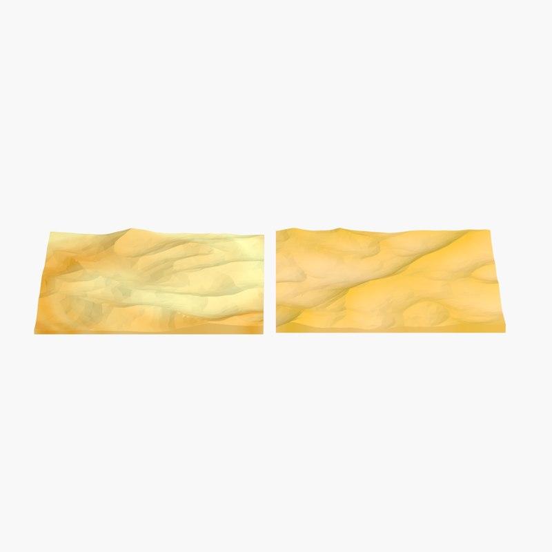 3d model terrains desert 1