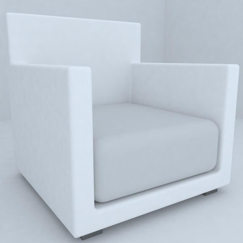 seat living room 3d model