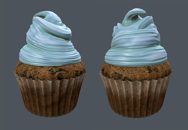 cupcake modeled obj
