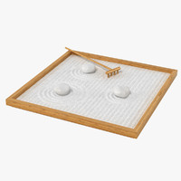 table zen garden 3d model