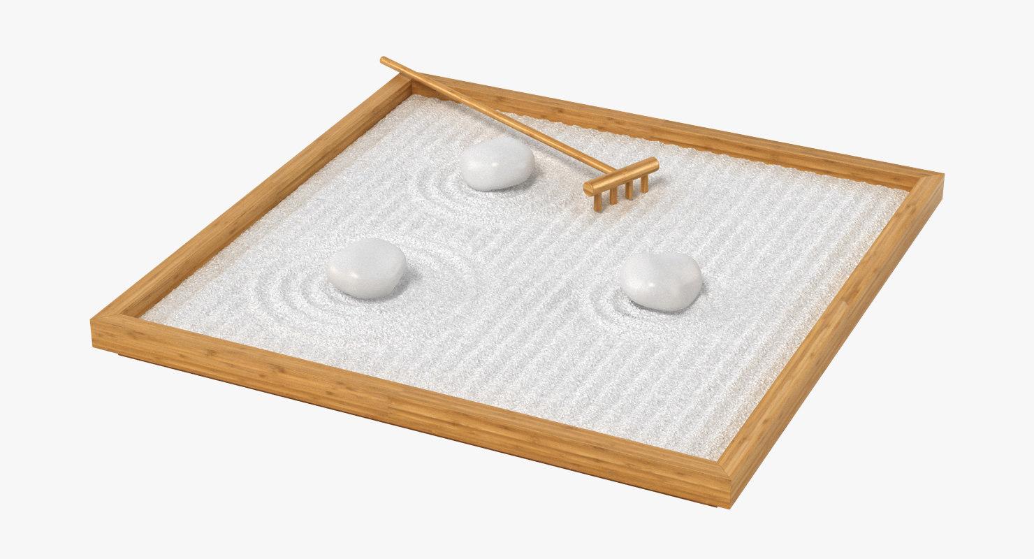 table zen garden 3d model