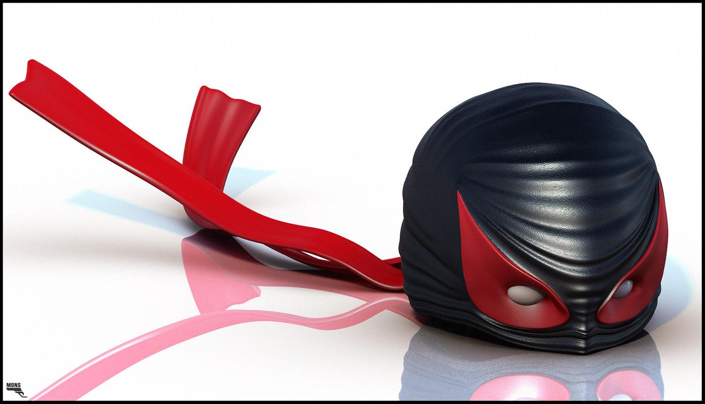 3d superhero mask hero