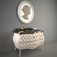 washbasin ypsilon cameo avorio 3d model