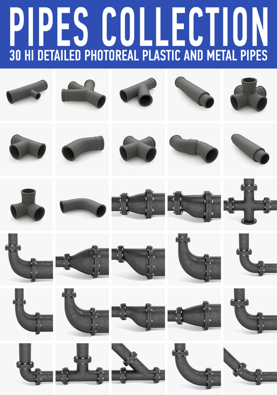 pipes collected 3d model
