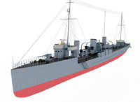 3d model destroyer type novik