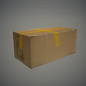 cardboard box 3d x