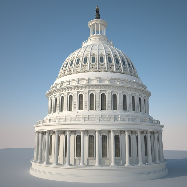 washington capitol d 3d max