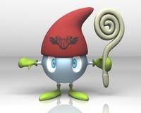 3d fbx cute wizard