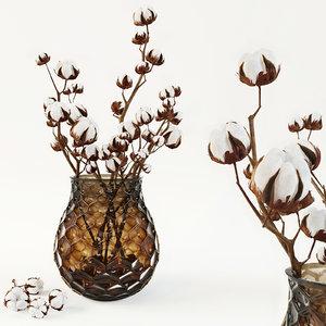 cotton vase 3d model