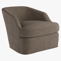 armchair swivel chair return 3d model