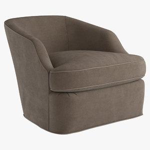 armchair swivel chair return 3d model