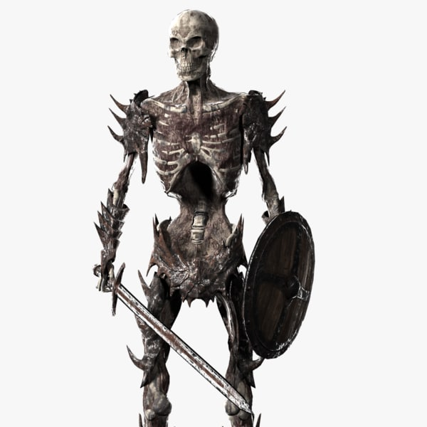 undead warrior 3d obj