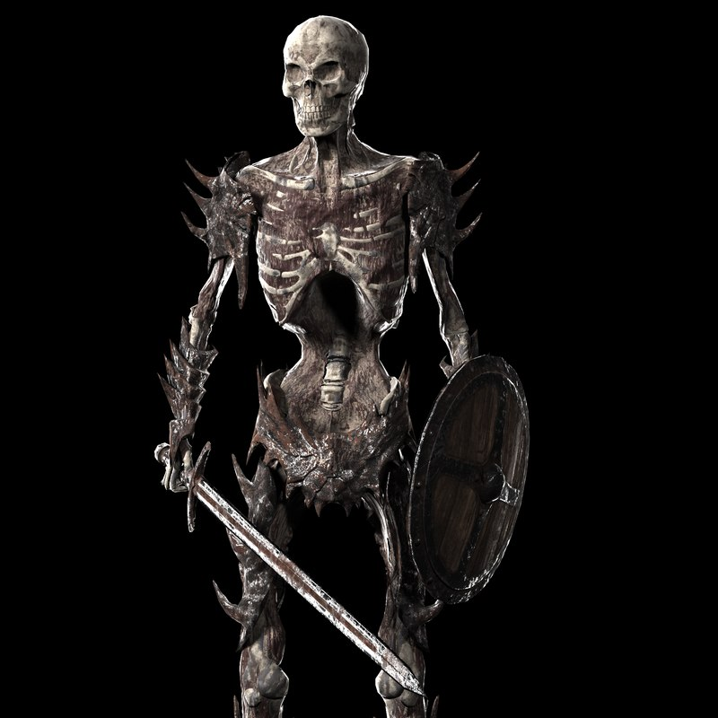 undead warrior 3d obj
