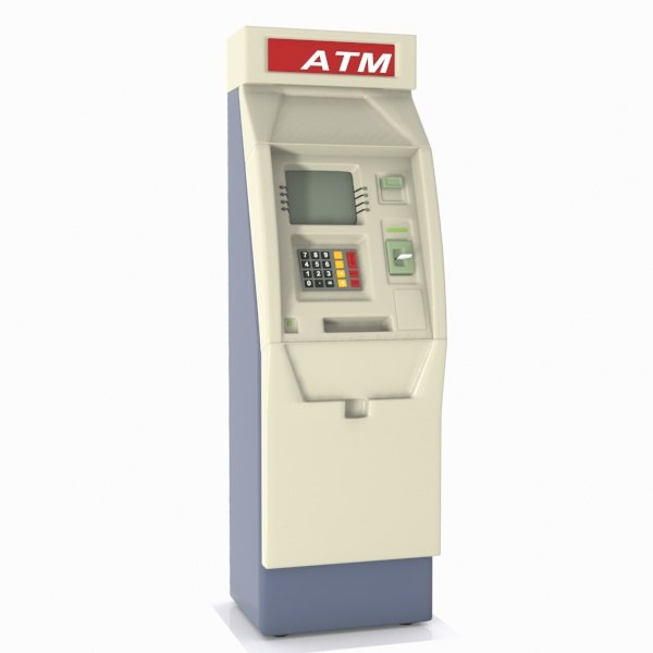 3d atm machine cartoon