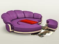 chamois modern sofa c4d