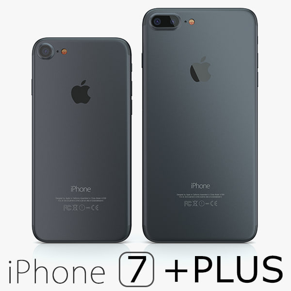 3d model 2 iphone 7 black