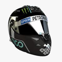 3d model schuberth f1 helmet nico