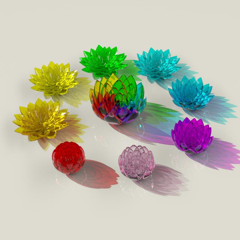 3d crystal flowers