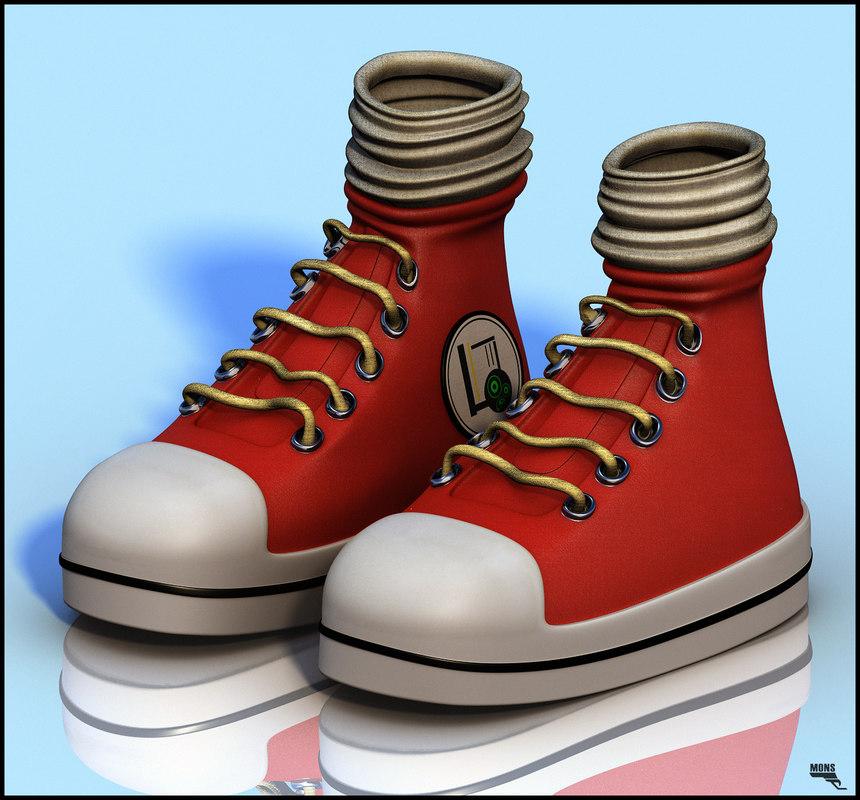 3d cartoon sneaker
