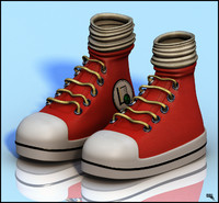 cartoon sneaker 3d max