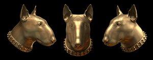 bull terrier head 3d model