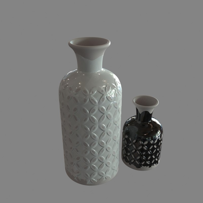 decoration jars 3d model