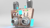 3d jetpack steampunk steam model