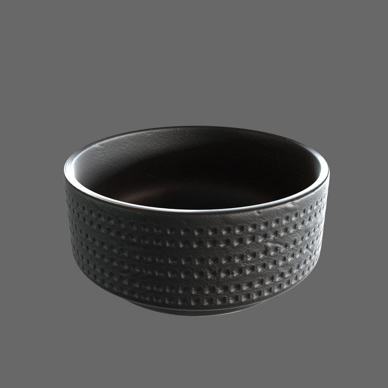 minotti black vase 3d max