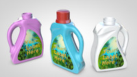 softener bottles 3d model