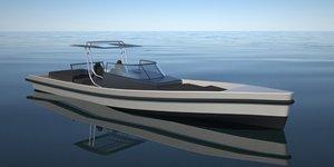 3ds tender boat
