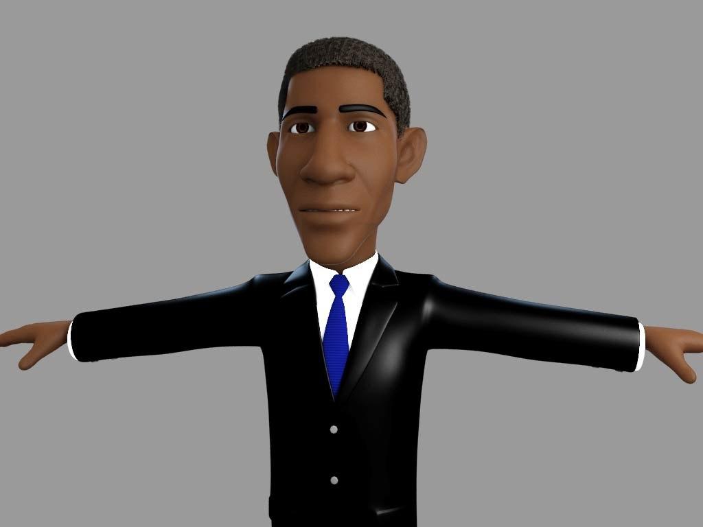 obama barack 3d model