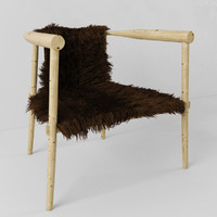 Chair with fur