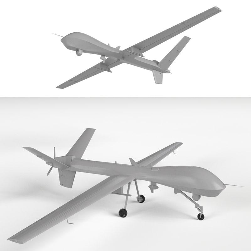 Mq 9 Reaper Uav Drones 3d Model