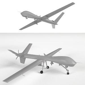mq-9 reaper uav drones 3d model