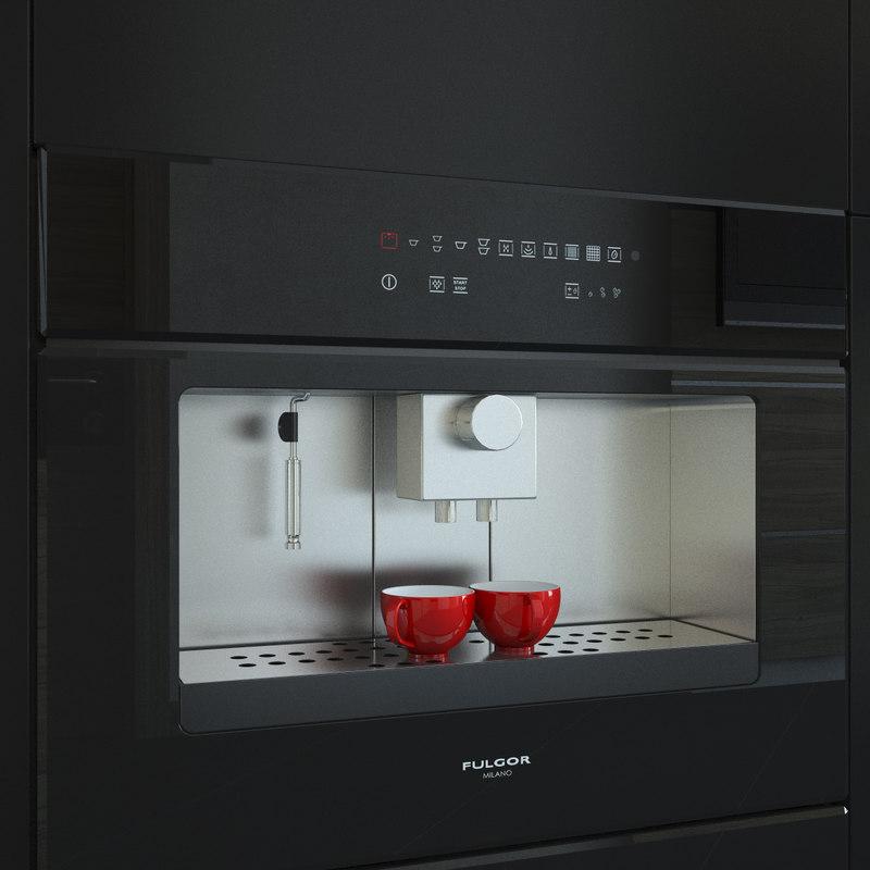 fulgor milano coffee machine 3d max