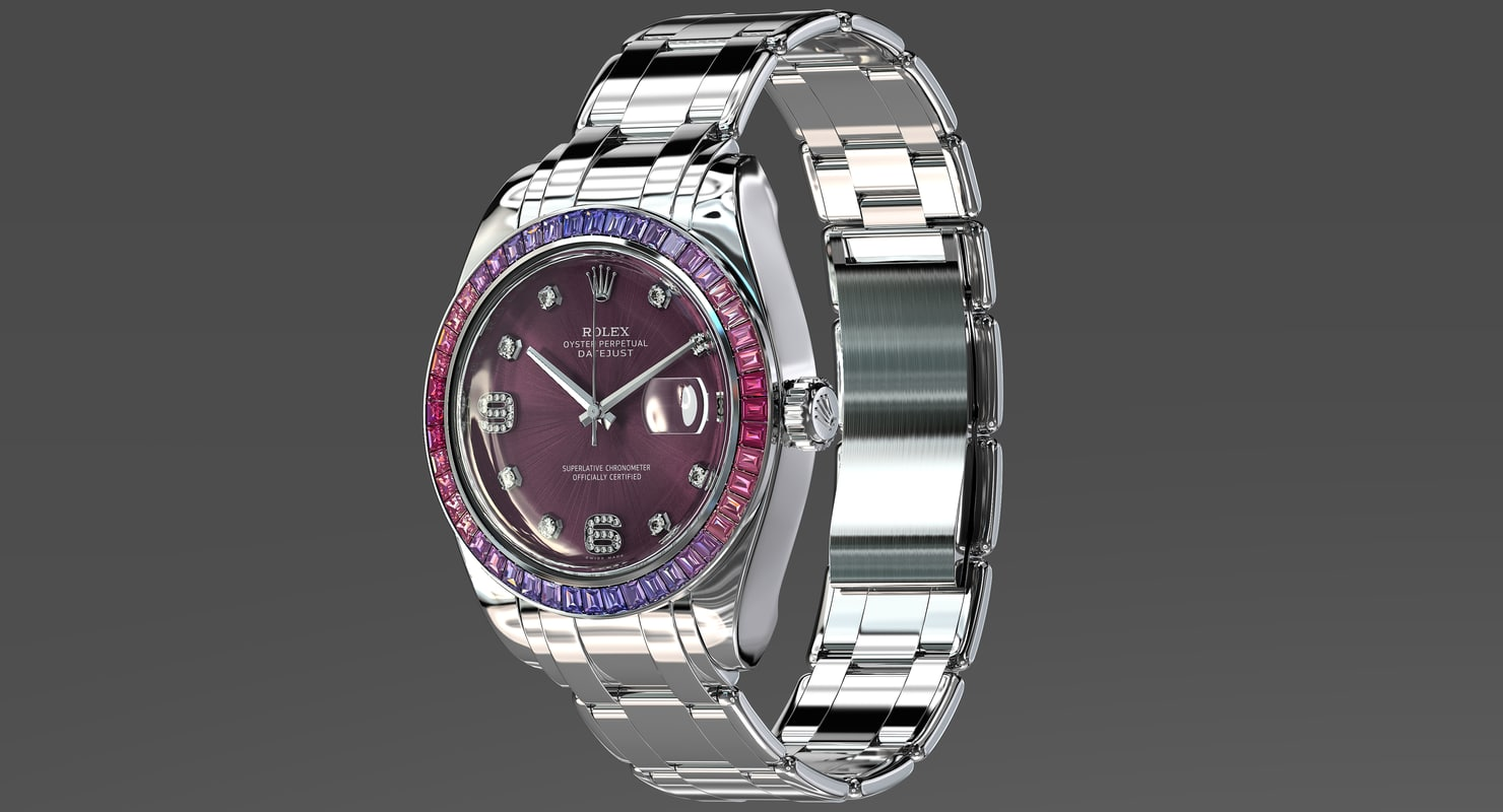 rolex oyster perpetual pearlmaster 3d model