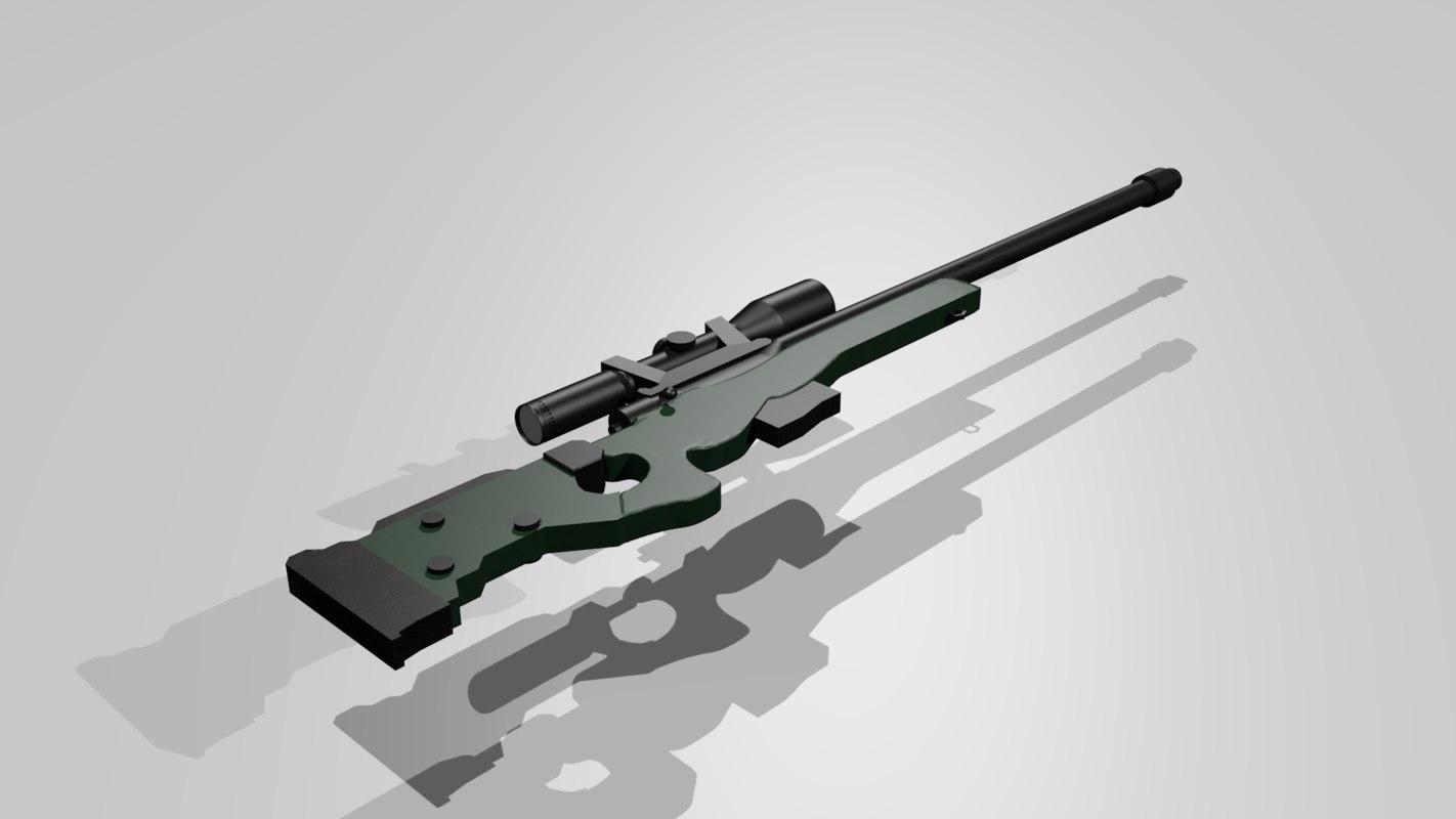 rifle awm 3d 3ds
