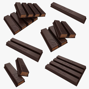 realistic kit kat set 3d model