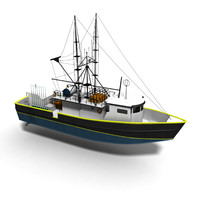 sandy dory longline vessel 3ds