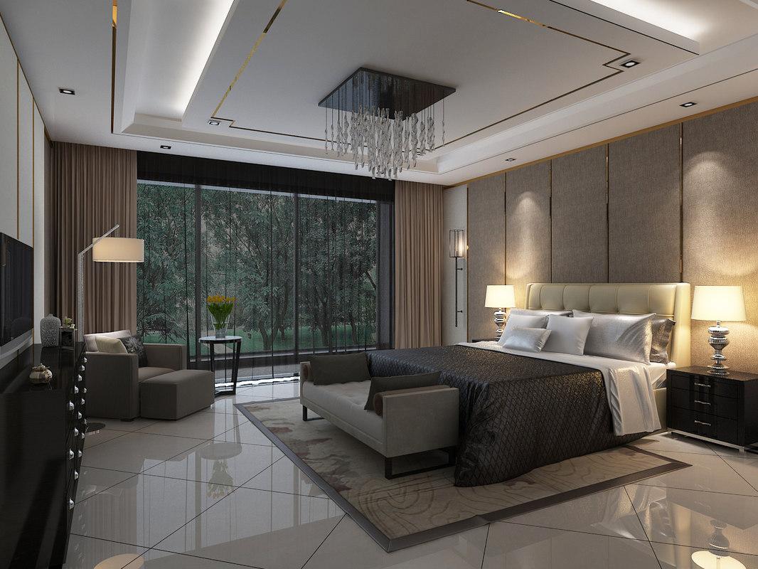 3d model bedroom bed room