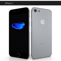 7 apple phone 3d model